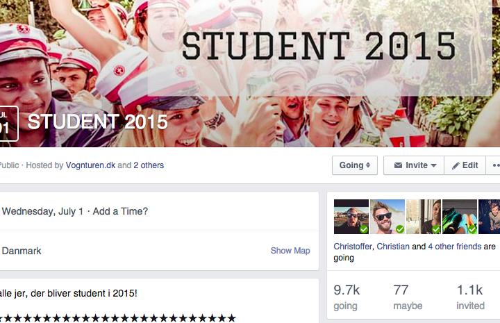 Pas på at dit Facebook event ikke bliver for stort